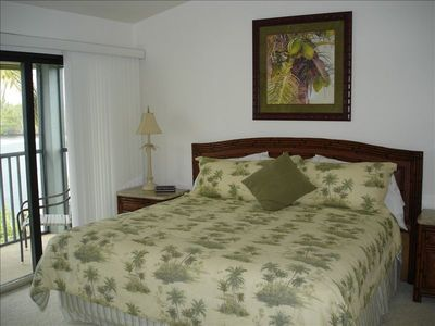 Master Bedroom with King bed and great water view and lani