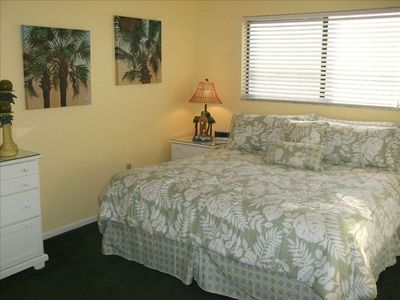 Master Bedroom with King Bed, In-room TV, and Ensuite Full Bathroom