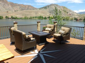 RELAX ON COMFORTABLE FURNITURE ON DECK, ENJOY FIRE PIT...VIEWS ARE AMAZING!