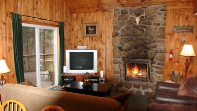 North Conway house rental - Ahhh.... the crackle of the fire!