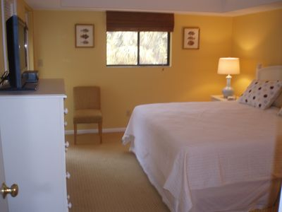 guest BR with bathroom, incl. shower, walk in closet, and access to balcony