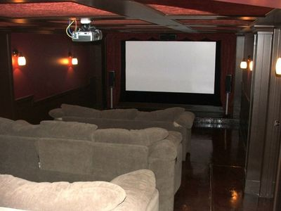 "Movie Theater with 120"" Screen"