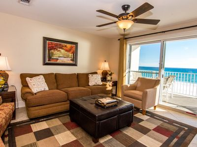 Living Room w/ gulf view!