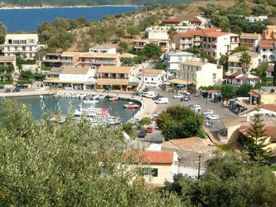 Kassiopi harbour just 15 minutes drive away