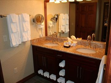 Master Bathroom at Park City, UT Condo at Canyons Ski Resort - has Steam Shower