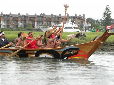 Native American canoe race - canoes from around the Pacific Rim to La Conner