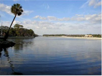The Intracoastal waterway- boating and fishing are steps away