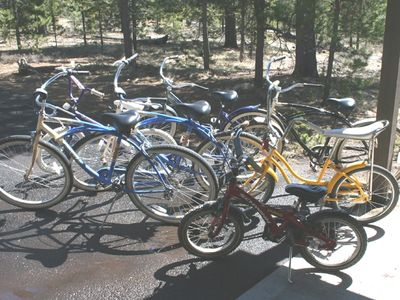 Lots of bicycles to use
