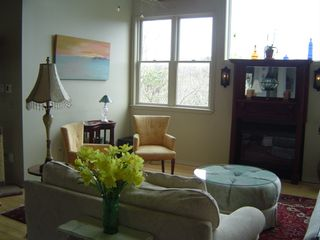 Provincetown house photo - Open livingroom area.