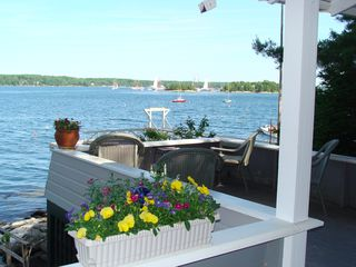 Boothbay Harbor cottage photo - Watch the famed Windjammer parade right from the porch!