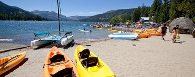 Private Beach & Marina Available to Guests at Donner Lake