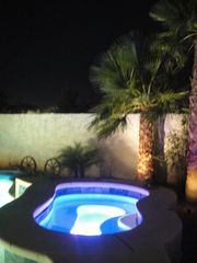 Jacuzzi by night - Las Vegas house vacation rental photo