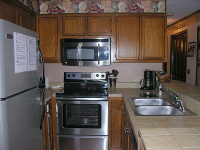 Full Kitchen with stainless steel appliances -Everything you need to cook a meal