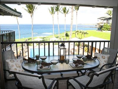 Enjoy breakfast on the downstairs lanai while gazing at the Pacific