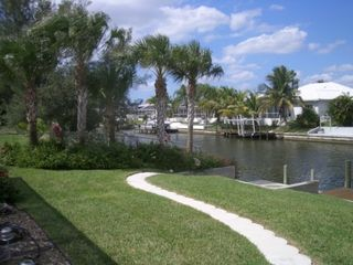 Cape Coral house photo - Dock provides comfortable spot for fishing