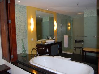 Nusa Dua apartment photo - Master bathroom Balinese style