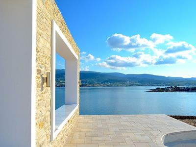 Antiparos villa rental - EAST-VIEW FROM THE POOL LOOKING AT THE ISLAND OF PAROS