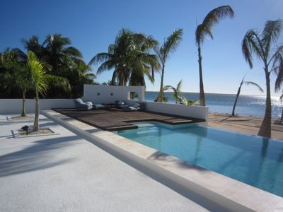 Grand Cayman villa rental - Lounge by the 50ft infinity edge pool