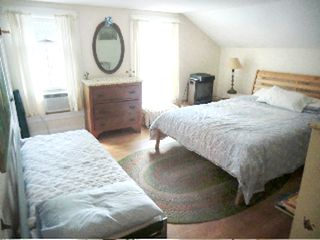 Great Barrington house photo - main bedroom, queen and single beds (2)