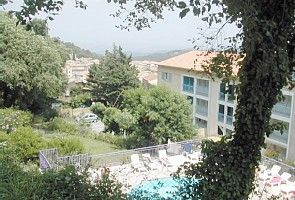 A comfortable modern holiday apartment with shared pool in a delightful village