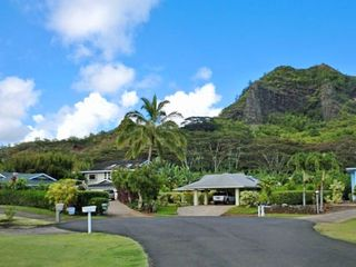 Wailua house photo - At end of quiet cul de sac. Green roof on far left is Rainbow Trails.
