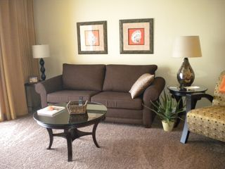 Splash Resort condo photo - Enjoy gorgeous views of the Gulf of Mexico from your living room
