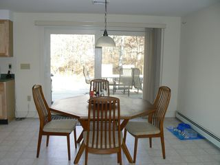 Vineyard Haven house photo - Dining room; over-size sliders to deck