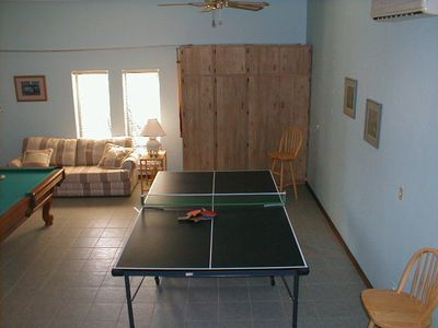 Photo shows only part of large Gamerm with pool table,dart board,full bathrm.