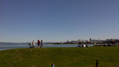 Downtown S F viewed from Crissy Field