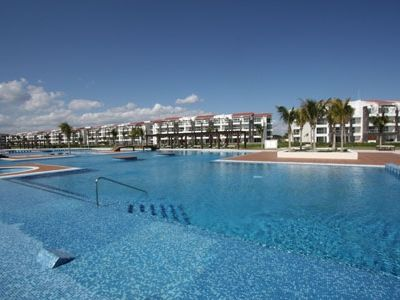 the 10,000 Sq. Ft Mareazul Pool Area