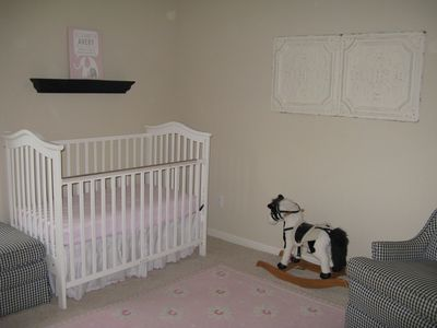 Nursery can be converted to another room with a queen air mattress