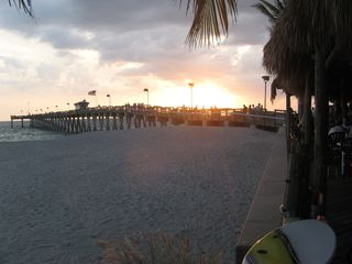 South Venice house photo - Gulf Sunset from Sharky's Pier