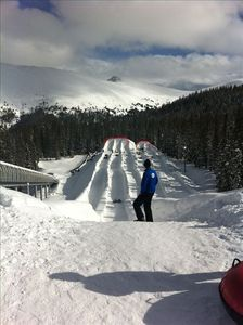 Great tubing at the top of the mountain