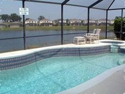 Sunset Lakes villa rental - Pool and Spa with Lake View