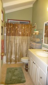 Full Size Bathroom #2 with shower and bathtub (upstairs)