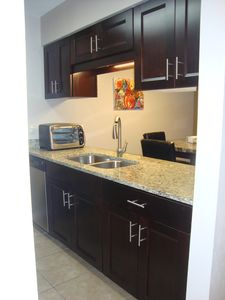 Brand new kitchen with stainless steel appliances!