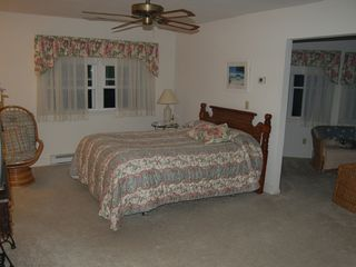 Bethany Beach house photo - Master bedroom with bonus sitting room and TV/DVD