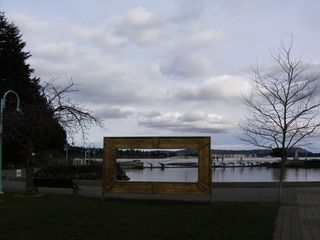 Nanaimo apartment photo - Big photo frame overlooking swy-Alana lagoon and swim area.