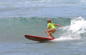 Surf is up!! We have surf schools right by our doorstep, very kid friendly!