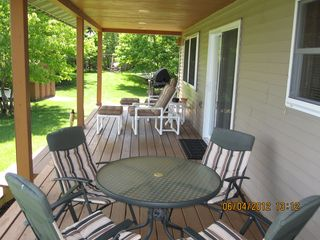 Munising cottage photo - A place to enjoy coffee in the morning.