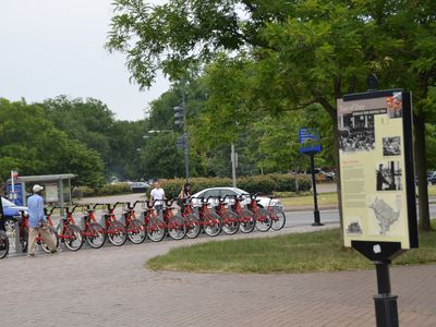 Bikes are available thru the bikeshare at Eastern Market Metro