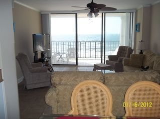 Gulf Shores condo photo - View of the living room with wall of glass