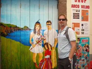 Blending into the Door Art in Funchal