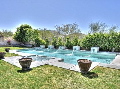 Gorgeous swimming pool with view of McDowell Mountain.