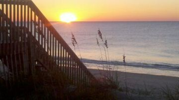 Surf City condo rental - Amazing Atlantic Ocean Sunrise Looking off our Balcony.