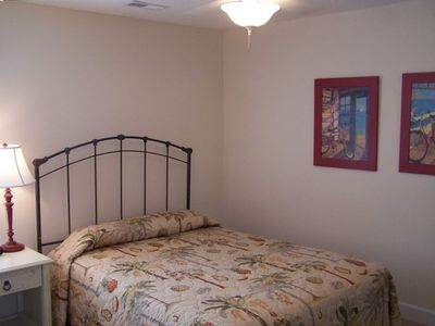 This 2nd floor bedroom suite has a queen bed with adjoining bath.