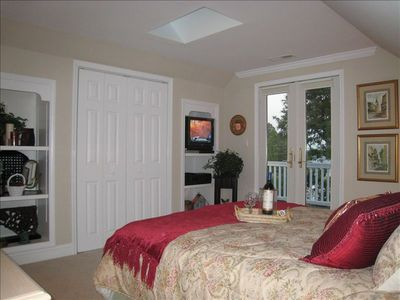 Bed Room w/ skylight, French doors and private balcony