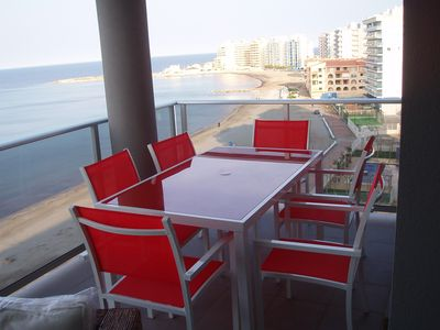 Beautiful apartment in 1st line of the Mediterranean Sea