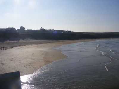 Padstow cabin rental - Harlyn Bay, safe family beach RNLI cover