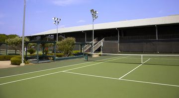The outdoor tennis courts.